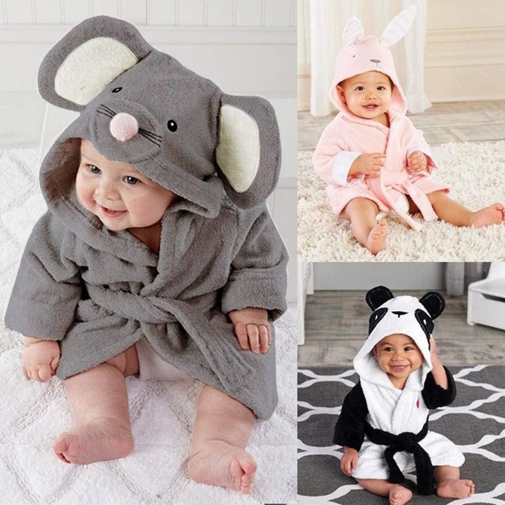 Baby Boy Girl Cartoon Animals Hooded Towel Pajamas Clothes Pollyhb New Baby Bathrobe