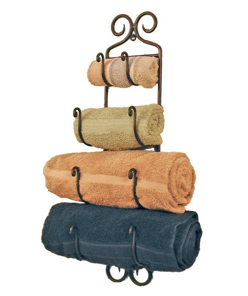 Amazon.com: Small Adirondack Towel Rack ~Black Wrought Iron By Colonial Tin  Works: Home U0026 Kitchen