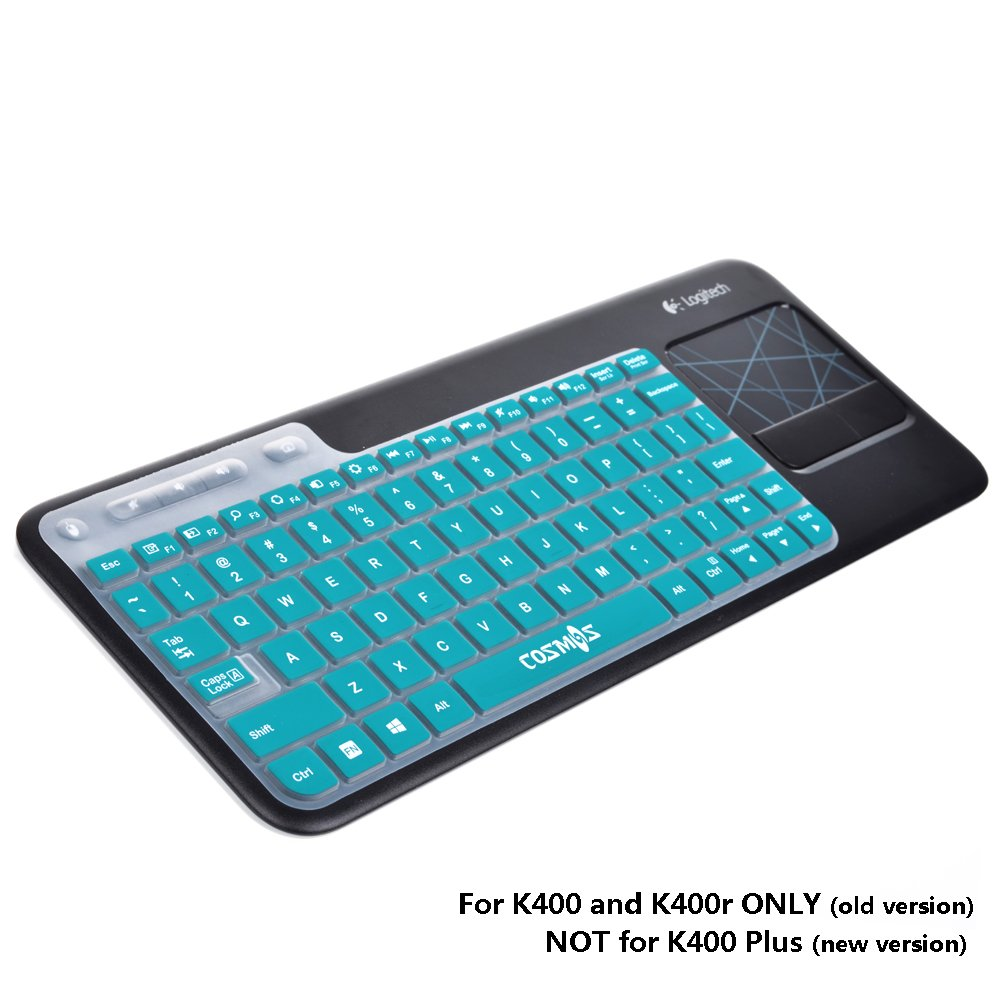 K400 Plus Logitech Wireless Touch Keyboard White Key 1 Cosmos Aqua Blue Ultra Thin Silicone Soft Cover Skin For