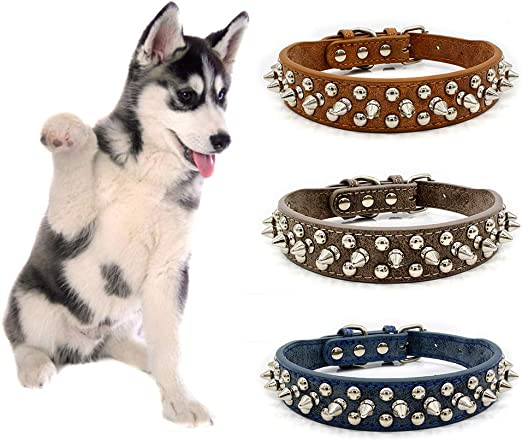 Accesorios para perro, perro cachorro ajustable Punk Rivet Spiked ...