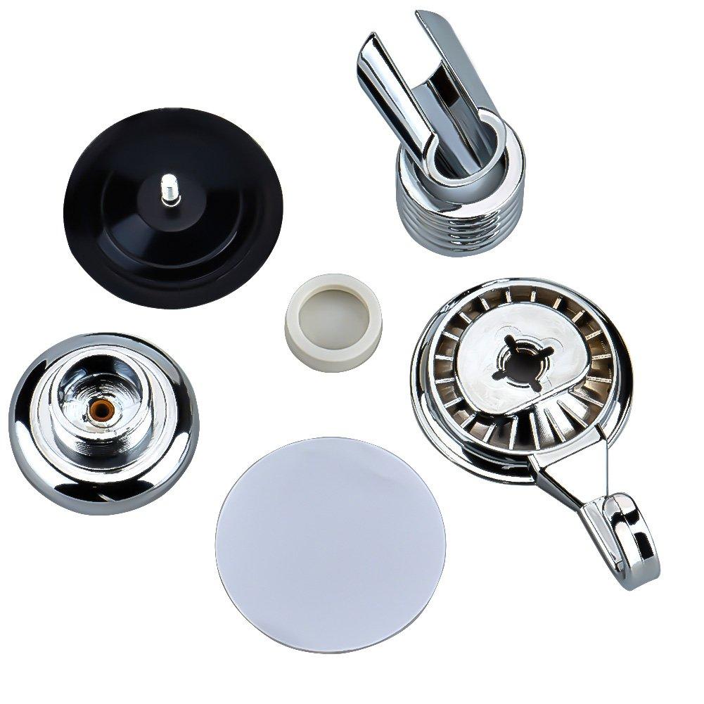 Cozyswan Angle Adjustable Vacuum Suction Cup Handheld Shower Bracket Bathroom Wall Head Holder Mount with Towel Hook Shower Head Holder