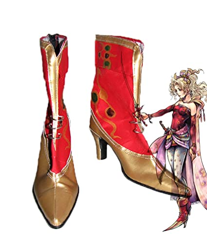 FF6 Dissidia Final Fantasy Terra Branford Cosplay Shoes Boots Custom Made 2