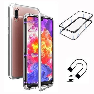 Funda Huawei P20 Lite, ToDo [Tecnología De Absorción Magnética][Marco de Metal] [Clear Tempered Glass Back] Ultra Fina Ligero Transparente Carcasas ...