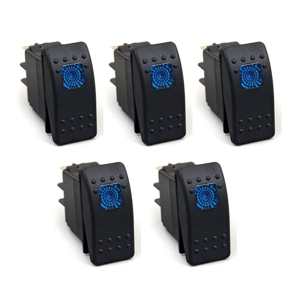 XT AUTO 12V 20 Amp 3pins Blue Light Rocker Switch