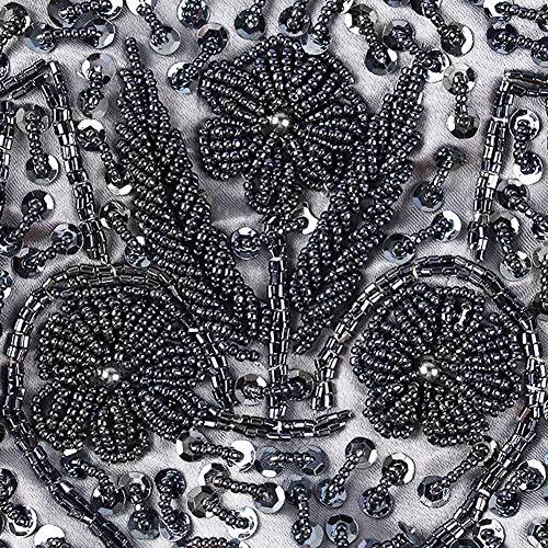 De À De Sac Soirée Brodé Sac D'embrayage Mariage Femmes Chaîne Gris pour Vintage Perlée Détachable Main Bourse Fête iShine avec la 8nwtUqEE