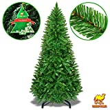 Strong Camel Artificial Christmas Tree 5/6/7/8ft w Metal Stand Xmas Slim Spruce Natural Decor (7')