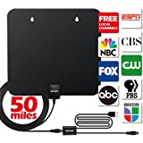 HDTV Antenna, AKARY 50 Miles Range 1080P Indoor Antenna Upgraded Version FREE for LIFE, Boost Signal TV Antenna with Detachable Amplifier