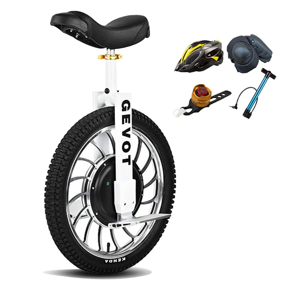 LHY RIDING Bicycle 20 Inch Single Wheel Bicycle White Adult High Speed Balance Electric Motorcycle High Performance Unicycle Scooter 60v Voltage,C,60V