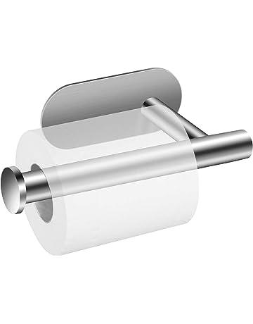 Portarrollos para Papel Higiénico, POOPHUNS Portarrollos baño Autoadhesivo Multifunción 304 Acero Inoxidable Soporte de Papel