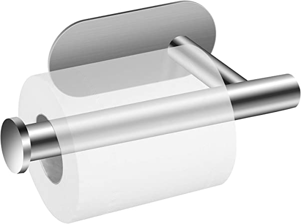 Porte Papier Toilette Acier Inoxydable Auto-adh/ésif Support Pour Rouleau de Papier Toilette pour Salle de Bain et Cuisine Argent