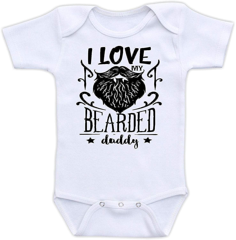 I Love My Bearded Daddy Baby Bodysuit Shirt for Newborn Baby Girls Boys Ballkleid