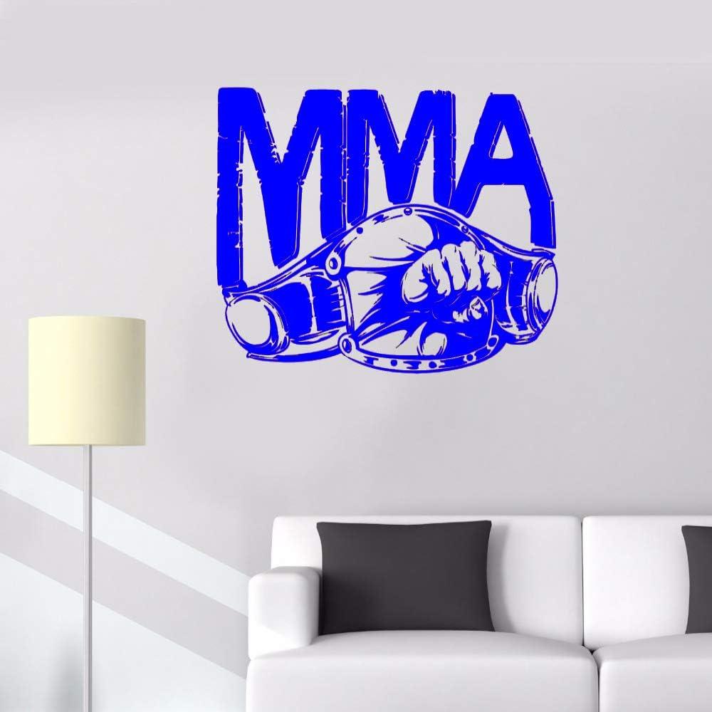 zqyjhkou Deportes Calientes Hombre Real Decoración Pegatinas de Pared MMA Cinturón Puño Puño Lucha Boxeo Extremo Extraíble Vinilo Arte Murales Calcomanías 1 53x42cm: Amazon.es: Hogar