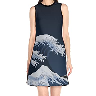 Girls Dress Mini Dress, Japan Ocean Wave Spring Prom Cocktail Dresses for Women Girls at Amazon Womens Clothing store: