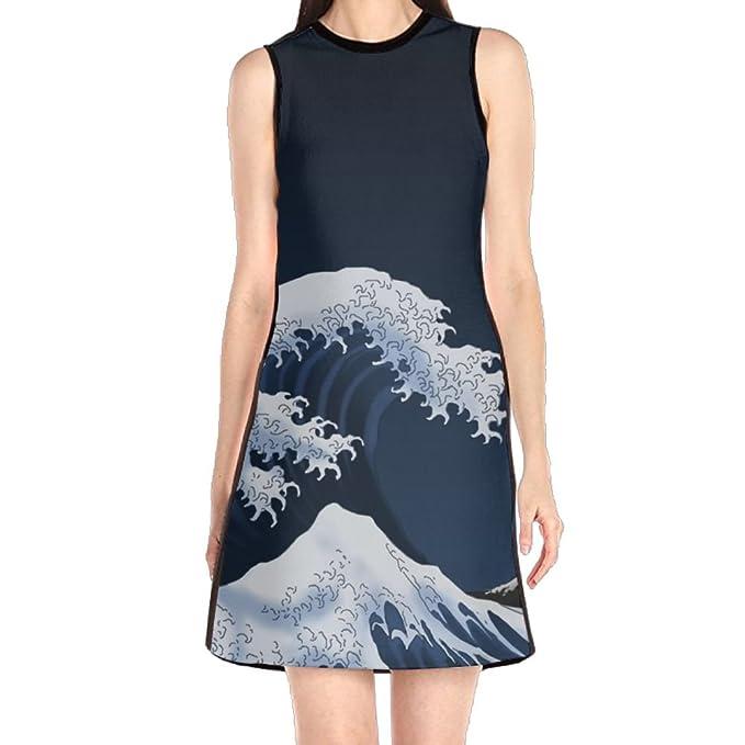 Girls Dress Mini Dress Japan Ocean Wave Spring Prom Cocktail