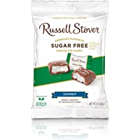 Russell Stover Coconut No Sugar Added Milk Chocolate, Bag, 85g