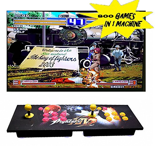 Gaobei Pandora's Box 4S Arcade Game Console 800 in 1 TV Jamma Video Games Kit with 2 Joystick Button Power Supply Parts HDMI and VGA Output - 2 Players Arcade Console with 800 Games