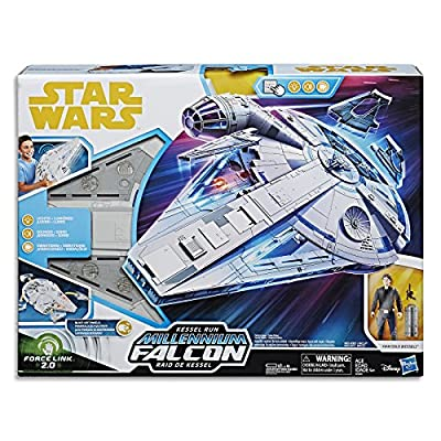 Star Wars Force Link 2.0 Kessel Run Millennium Falcon with Han Solo Figure: Hasbro: Toys & Games