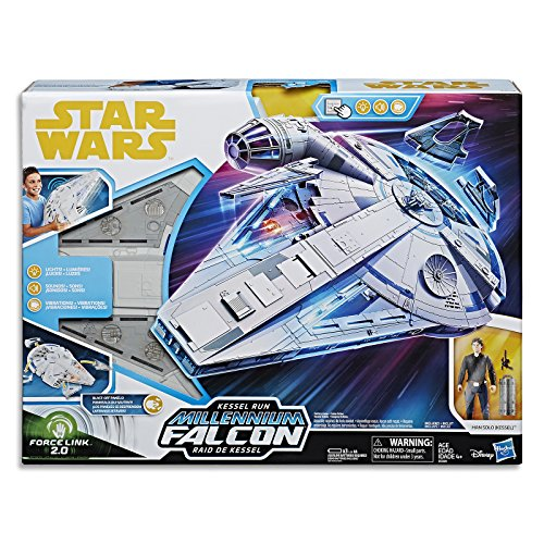 Star Wars Force Link 2.0 Kessel Run Millennium Falcon with Han Solo Figure]()