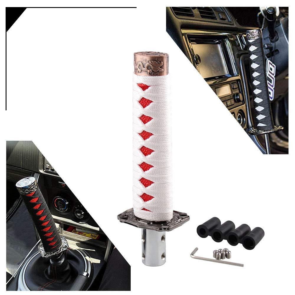 Gear Shift Knob Cuque 5 Speed Car Gear Shift Shifter Knob Universal Automobile Stick Head Handle Carbon Fiber Auto Gear Shift Knob Head Lever with 3 Adapter 8mm 10mm 12mm Black