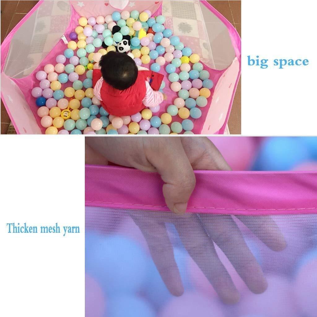 Yankuoo Faltbare Kunststoff Babyplaypen mit Aktivit/ätsfeld 6 Sides-Rosa