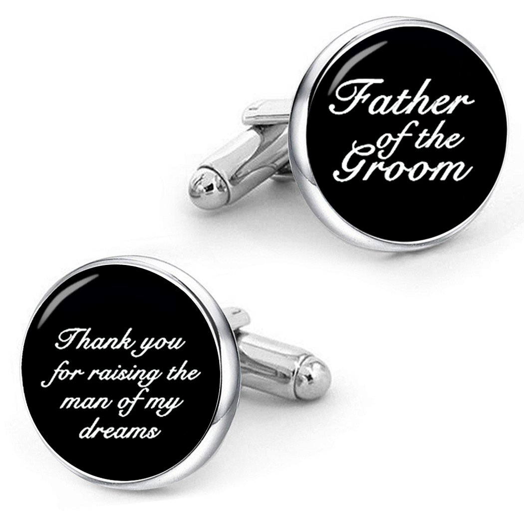 Kooer Father of the Groom Cufflinks Custom Wedding Cuff Links Handmade Personalized Cufflinks For Father by Kooer (Image #1)