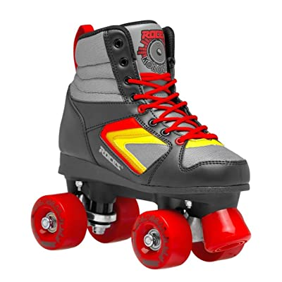 Roces Unisex Kolossal Fitness Quad Skates Roller Skate Black/Gray/Red 550041 : Sports & Outdoors