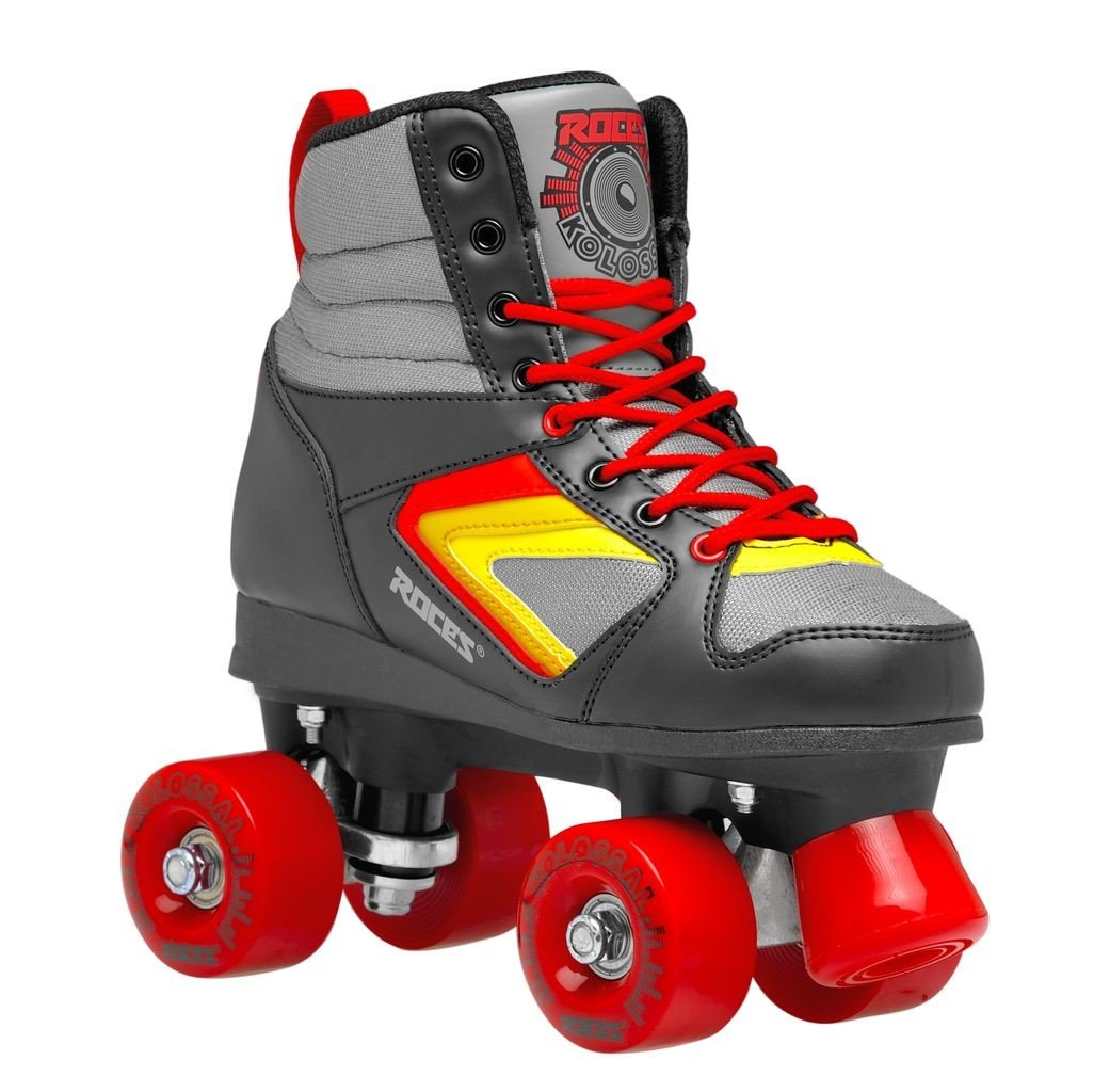 Roces 550041 Model Kolossal Roller Skate, US 4M/6W, Black/Grey/Yellow