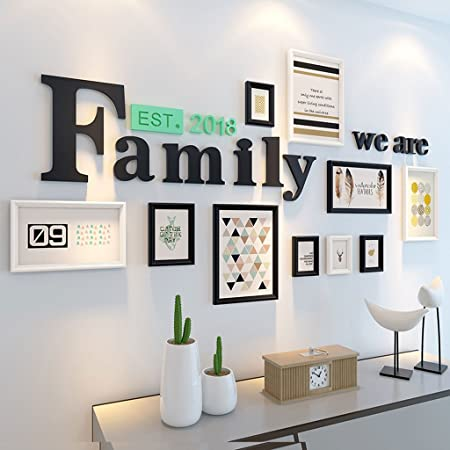 Nordic minimalistische moderne Holz Foto Wand, kreative Familie Foto ...