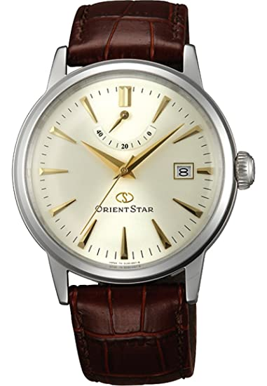 Orient Star Classic Power Reserve - Reloj automático vestido Champagne Dial el05005s wz0271el: Amazon.es: Relojes