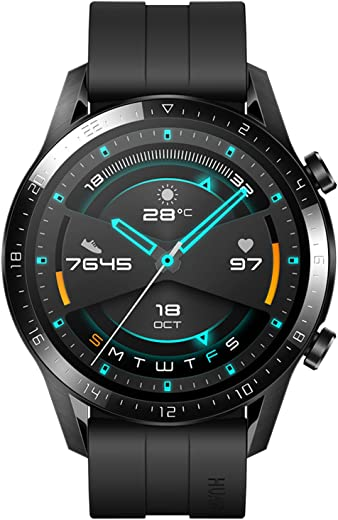 HUAWEI Watch GT 2 2019 Bluetooth SmartWatch, Sport GPS 14 Days Working Fitness Tracker, Blood Oxygen Monitor Heart Rate Tracker Waterproof for Android and iOS, 46mm, Matte Black