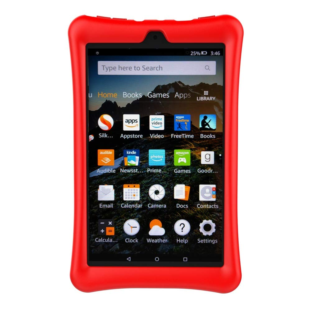 💗 Orcbee 💗 _Protective Shell Skin Silicone Case Cover for Amazon Kindle Fire HD 8 2017