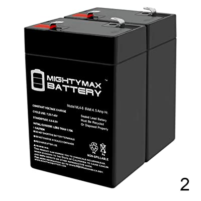 Mighty Max Battery ML4-6 - 6V 4.5AH Replacement American Hunter DE645DC Game Feeder Battery - 2 Pack Brand Product : Sports & Outdoors