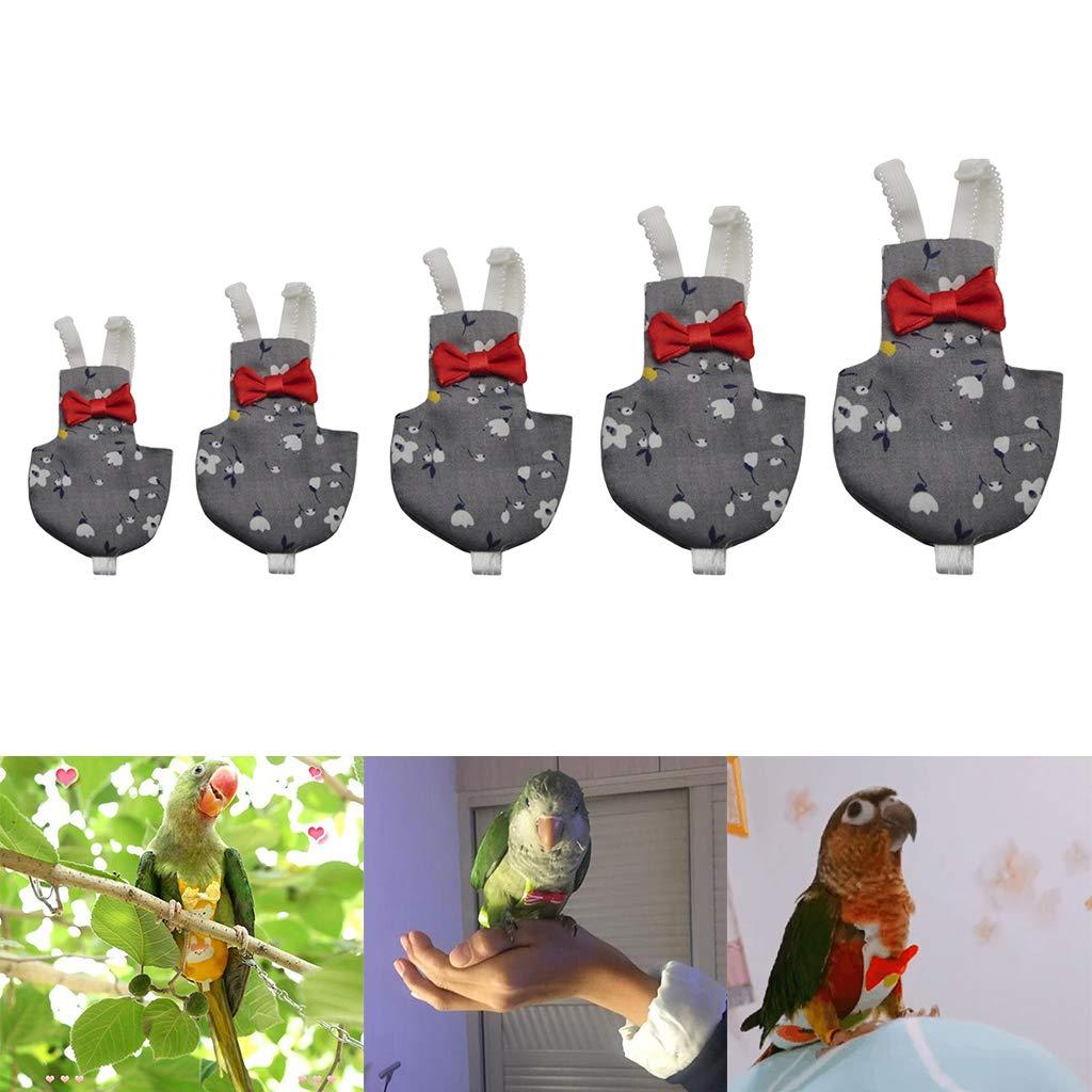 B Blesiya Breathable Bird Diaper Bird Parrot Diaper L Flight Suit Nappy Clothes for Conure Parakeet Cockatiels Pigeons