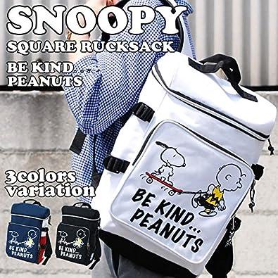 abdee3213cc2 Amazon | スヌーピー SNOOPY スケボー ナイロン スクエア リュックサック spr-114 (ブラック) | PSEG(ピーセグ) |  タウンリュック・ビジネスリュック