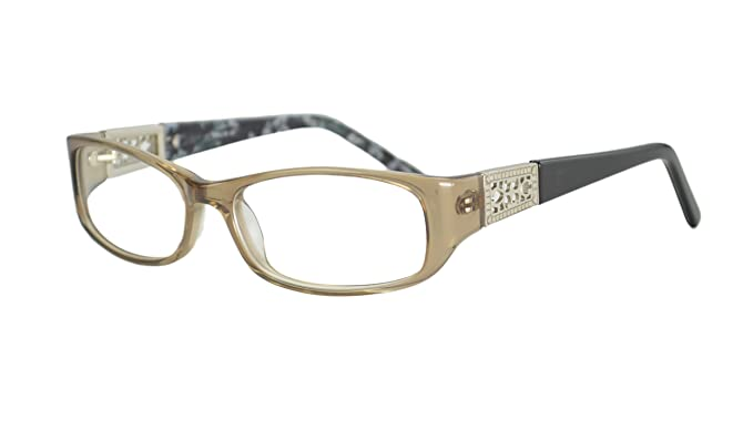 2fb97b30a93 Image Unavailable. Image not available for. Colour  Womens Italy Patterned  Prescription Glasses Frames Rxable in Brown Grey