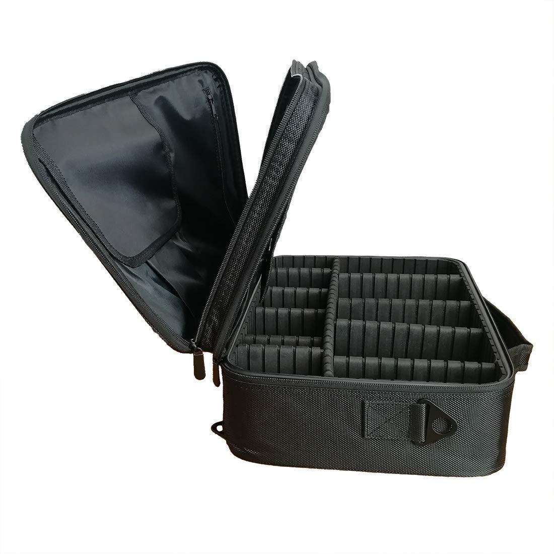 YiYa Large Travel Makeup Bag Professional Cosmetic Train Case Makeup Box Organizer Black