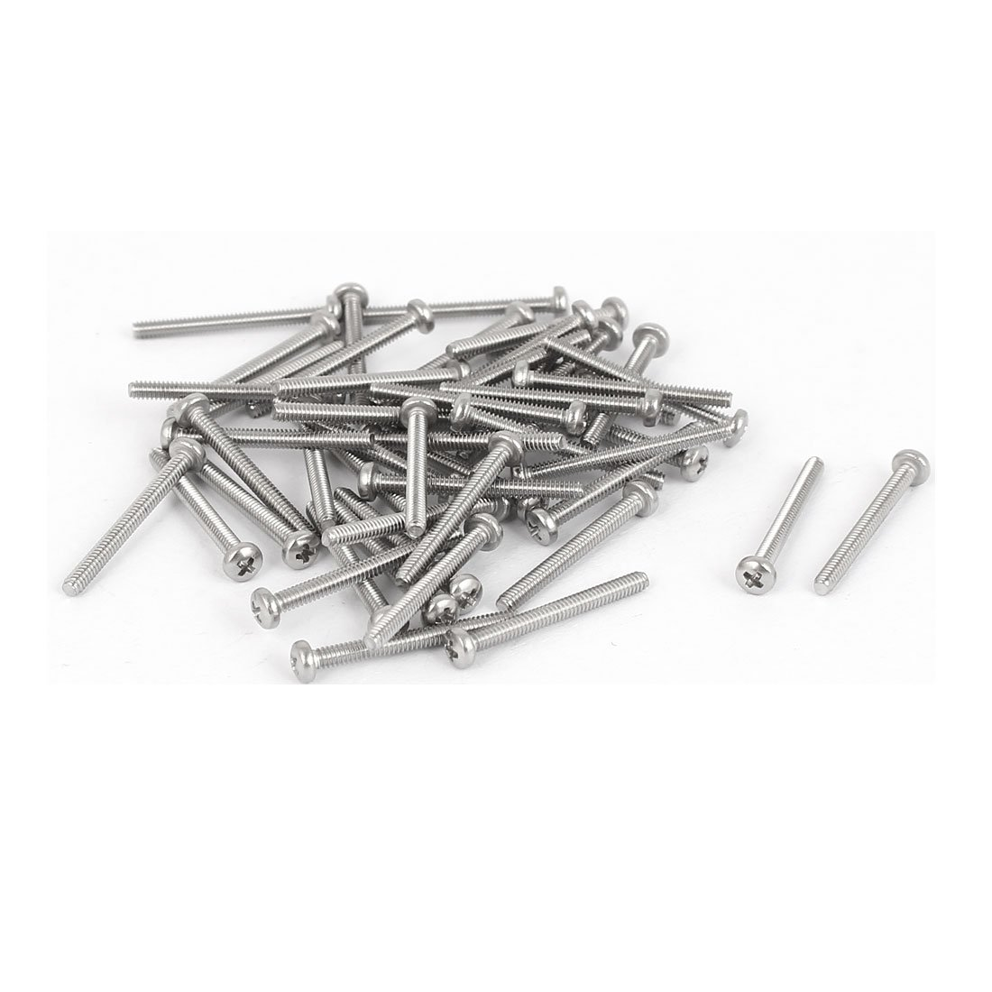 uxcell M1.6x16mm 316 Stainless Steel Phillips Pan Head Machine Screws Bolts 50 Pcs SYNCTEA042048