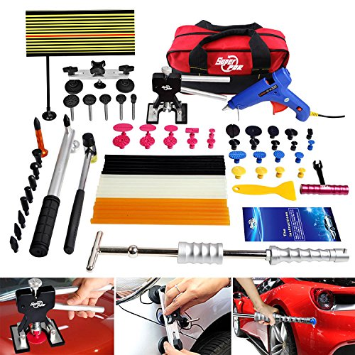 FLY5D® 65Pcs Auto Body Paintless Dent Removal Repair Tools Kits Silde Hammer Dent Lifter Glue Puller Sets with Tool Bag (Dent Repair Tool Kit compare prices)