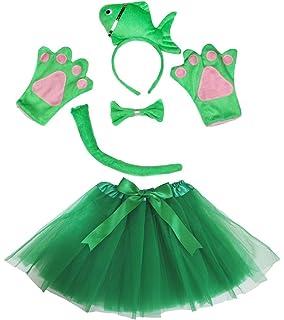 0a4a31410ffcc Petitebelle Poisson fantaisie Bandeau Noeud Papillon Queue Gants Vert  Ensemble de Tutu pour Lady