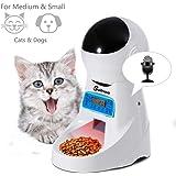 Sailnovo Dispensador Automático Comida Gatos Comederos Automáticos de Mascotas Para Perros y Gatos 4L