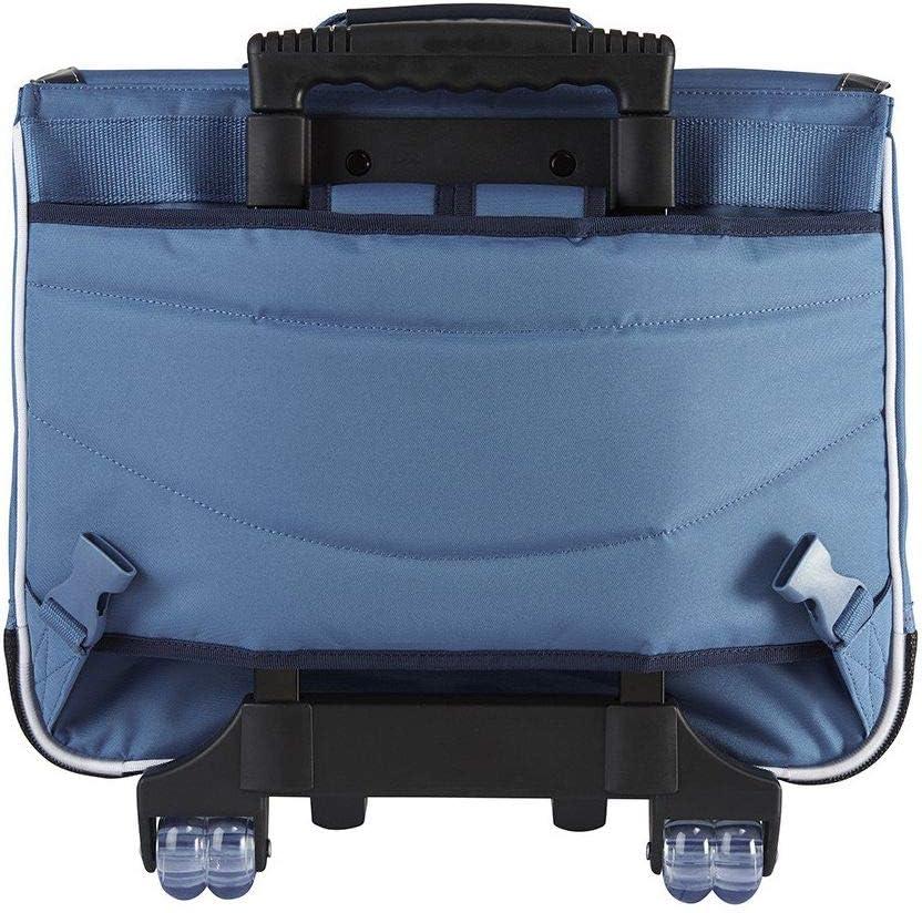 Tanns Taille 41 cm Cartable /à roulettes Bleu Marine 41cm CE2//CM1//CM2 Wimbledon 43128