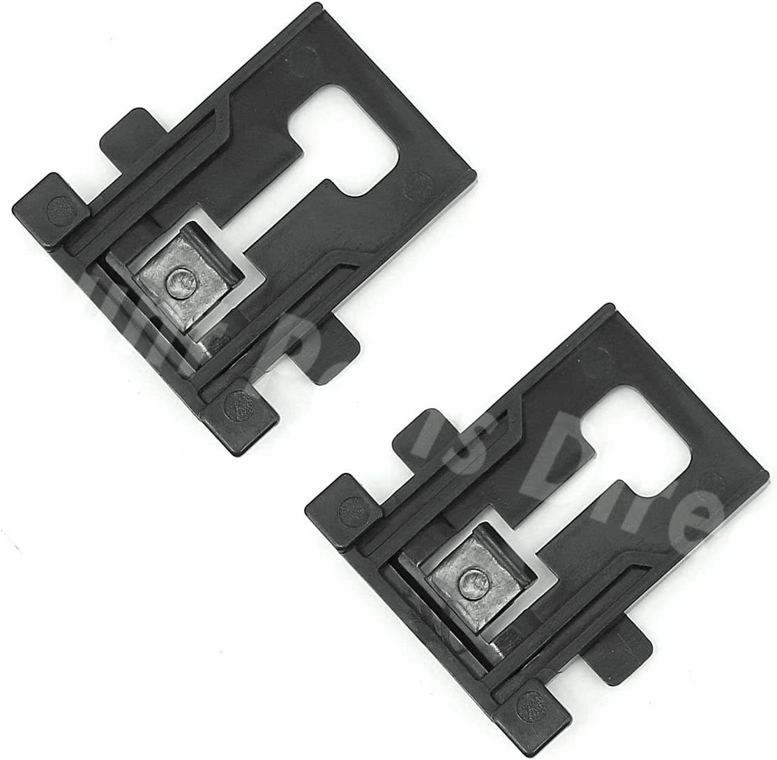 2PCS W10195840 Dishwasher Rack Adjuster Positioner Replacement Part for Whirlpool Kenmore Kitchenaid Dishwashers - Replaces WPW10195840 (2 Pack)
