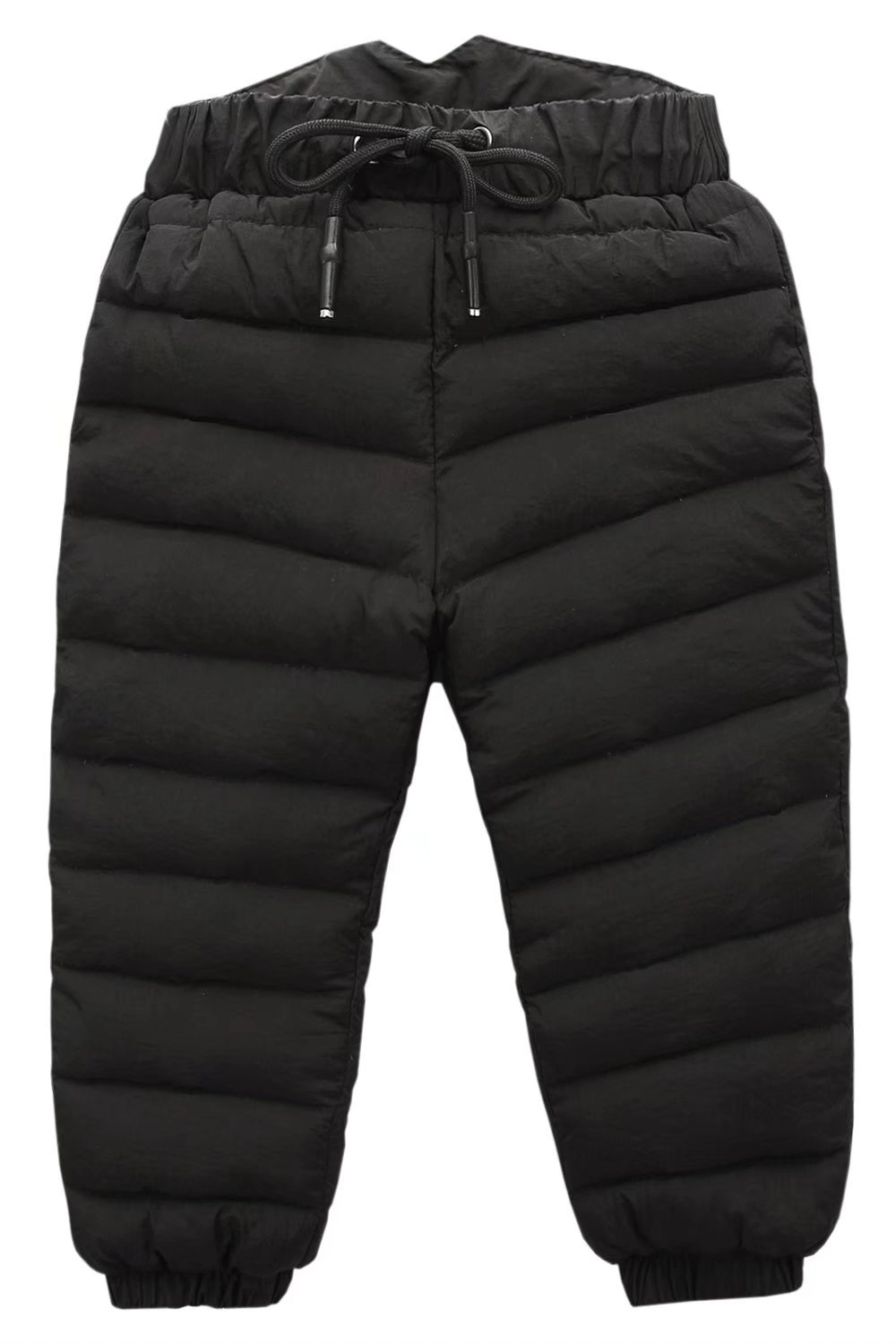 Boys Girls Winter Puffer Packable Down Snow Pants Black, 5-6 Years(5T-6T) =Tag 130