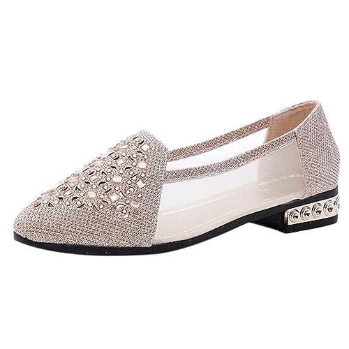 Zapatos de Plano Chic para Mujer Otoño 2018 Moda PAOLIAN Zapatos de Punta Señora Fiesta Calzado