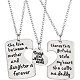 "Luvalti ""Daddy's Girl Mama's World"" Necklace 