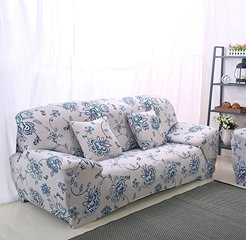 High Elasticity Fabric Sofa Slipcover Couch Cover Protector Three-Seater 74-90 Inch (Sectional Two Seat Sofa)