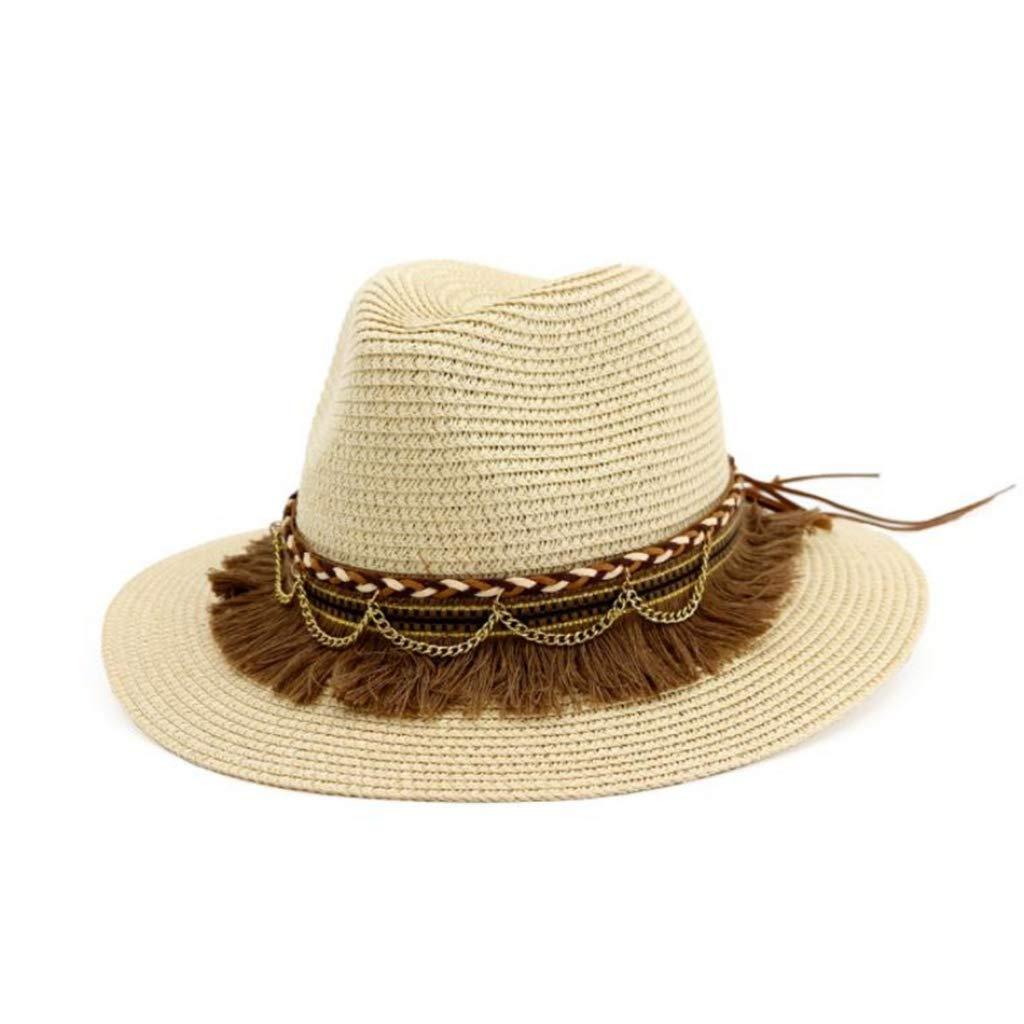 Black Sun Hat Tassel Cap Women Beach Straw Hat Vintage Ladies Hats for Summer 2019 New Ariival Straw Hats