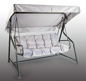 coussin et toit de balancelle Set Coussins + Toit de Remplacement pour Balancelle 3 Places Gris  coussin et toit de balancelle