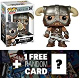 Dovahkiin: Funko POP! x The Elder Scrolls V - Skyrim Vinyl Figure + 1 FREE Video Games Themed Trading Card Bundle [52423] by The Elder Scrolls