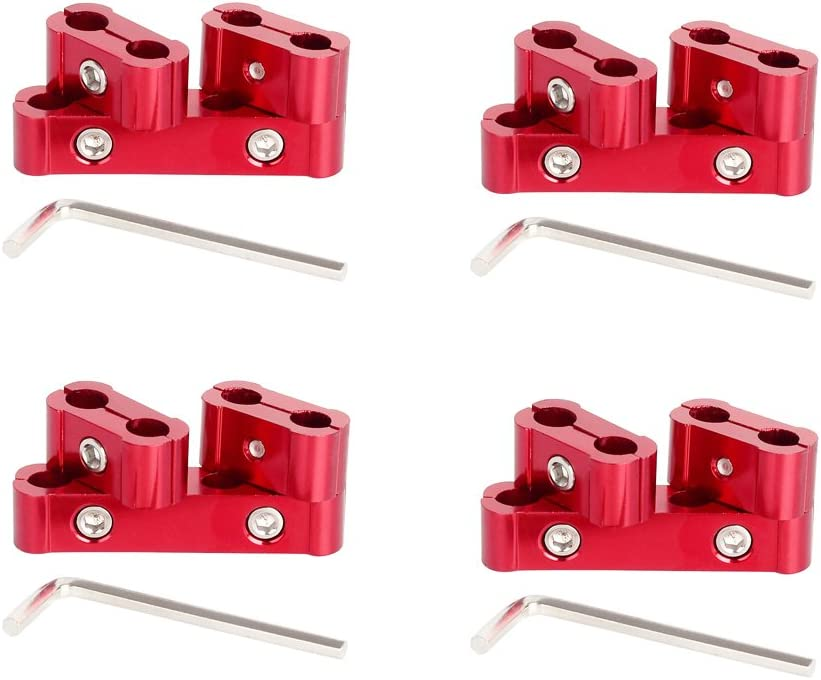 red 12pc Engine Spark Plug Wire Separator Divider Suit for 8mm 9mm 10mm
